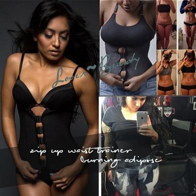 39dabbe5fc Qoo10 - Zipper And Hooks Combo Rubber Latex Waist Trainer Sexy Waist  Training ...   Women s Clothing