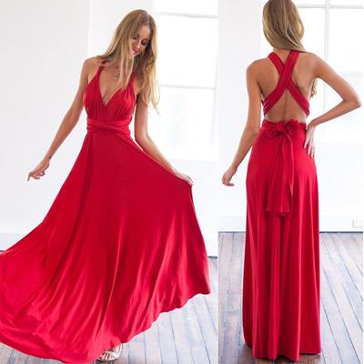 25ee7e0b84 ZKY Multiway Bridesmaids Convertible Wrap Dresses Robe Longue Femme Fashion  dress Hot 2018 summer se
