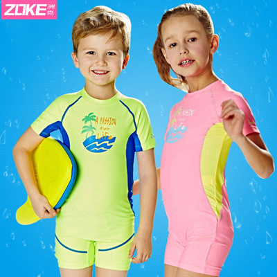 Zoke Speedo swimsuit chlorine-resistant and quick-drying of the child  fashion boys warm and comforta