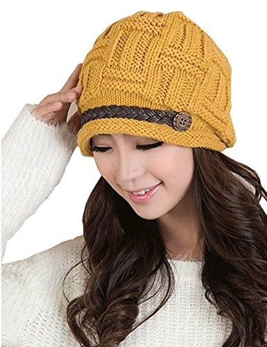 19dbc871516 Qoo10 - ZOMOY Women Knit Hat Winter Warm Thick Slouchy Cable Knit Hat Snow  Ski...   Fashion Accessor.