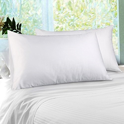 Zwish Cotton Pillowcases 2 Pack Envelope Style, Dust Mite Bed Bug Control  Pillow Protector,