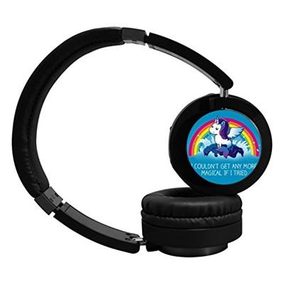4acde3063d433 (ZYgrM) Rainbow Dream Unicorn Bluetooth Wireless Headphones Over Ear Hi-Fi  Foldable Mp3 Earphones...