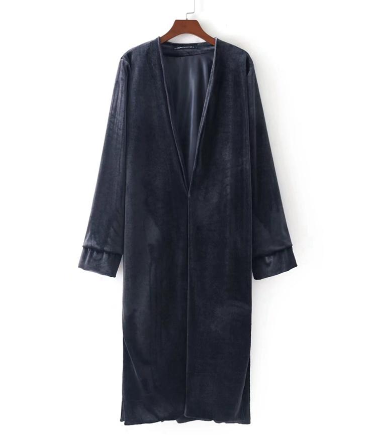 2017の秋冬冬、欧米ファッション修身の女性ビロード刺繍中にロングコートワンピース