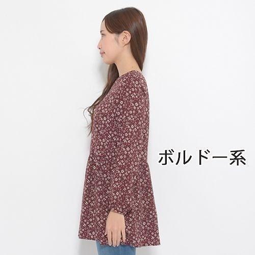 Girls Fashion ヤスカワ チュニック S M L LL 3L 5L レディース トップス 長袖 花柄 81157  【取寄せ品の為、代引き不可】