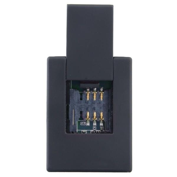 GSM双方向自動応答&ダイヤルオーディオSIMカードスパイ耳のバグN9プラグEU黒