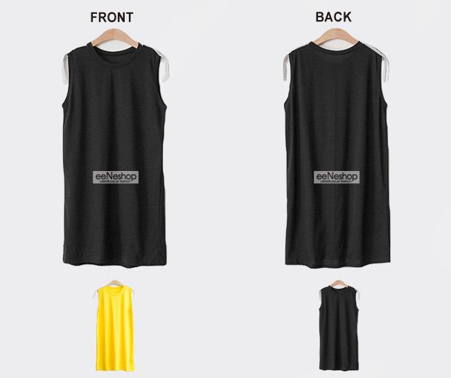 ★送料無料★ワード テープショルダー ノースリーブワンピース[レディース] 韓国ファッション ワンピース バッグ リュック パーカー Tシャツ