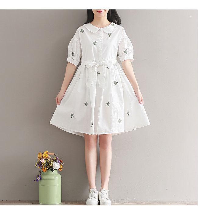 半袖ワンピース レディース 半袖 女性用 体型ワンピース  大きいサイズ ドレープ カジュアル 無地 ドレス おしゃれ 韓国ファッション シンプル 上品な素材 清新 着痩せ 高品質 花柄 ドレス