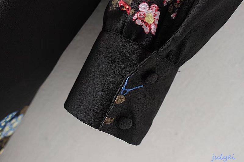 欧米風 /ワンピース 長袖 花柄 カジュアル/上品/ 2018春新作 大人かわいい服   レディース  着痩