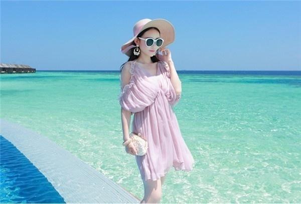 レディースワンピース ビーチワンピース 砂浜 ドルマンスリーブ ファッション ハイセンス 着心地いい おしゃれ 夏 レディースワンピース