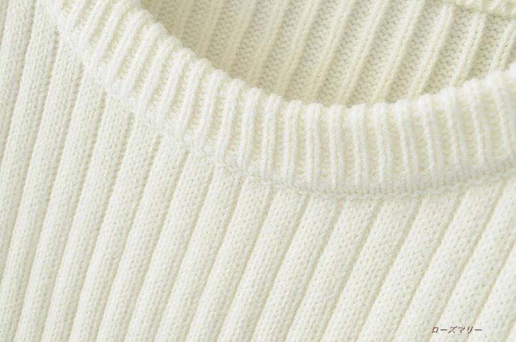 【ローズマリー】秋の新型肥厚太い2017毛糸長袖丸首のセーターに長めゆったり韓版のセーター セーターコート  韓国ファッション ベーシック セーターのワンピース 長袖ニットワンピース-QQ1605