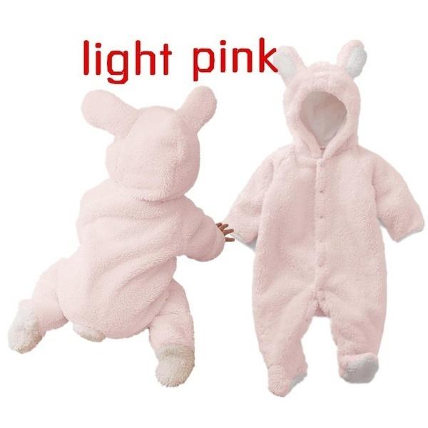 新生児幼児春ベビーロンパース幼児の女の子かわいいウサギの男の子ベビーベアロンパーキッドジャンプスーツ服