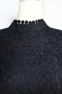 オールレースワンピース・リトルブラックドレス