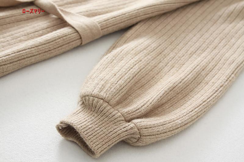 【ローズマリー】秋冬モデル女装2017百搭着やせ腰セーターの長いセクションを「ひざのニットワンピーススカート 長袖ニットワンピース ベースのセーター ワンピース  ベーシック-QQ5799