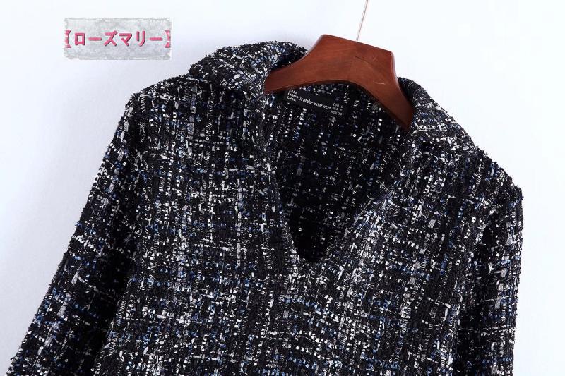 【ローズマリー】女装あや織りソフトか切り替えVネックワンピースエッジ縫代ポプリン切替長袖柔らかい 長袖ワンピース 切り替え ヴィンテージ調-QQ4505