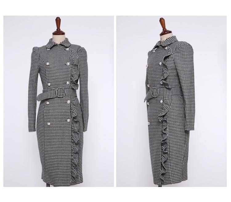 [55555SHOP]レディース 新作 Sale ワンピース OL  Party 通勤  コート ミドル ドレス