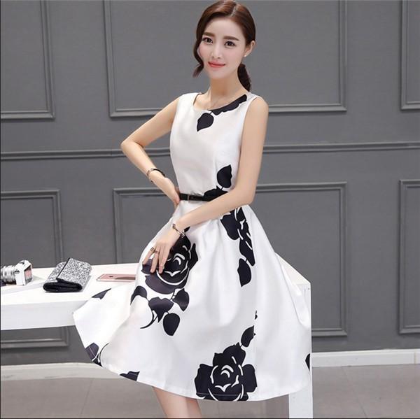 レディースワンピース 韓国無地 スリム 韓国のファッション   ノースリーブワンピース  プリントワンピース  ハイセンス 着心地いい おしゃれ 夏 スリム セール★ レディースワンピース