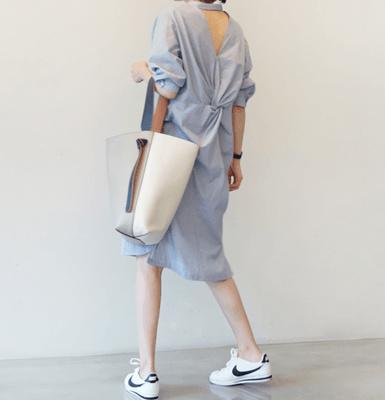 フレアスリーブベルト付チェックワンピース韓国ファッション大人女子コーデ秋ファッション