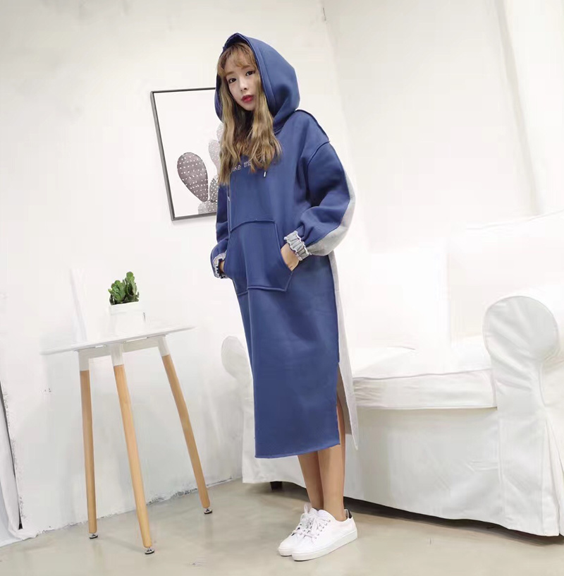 16秋冬新作 韓国ファッション レディースファッション/トレーナー レディース トレーナーワンピ ゆったり