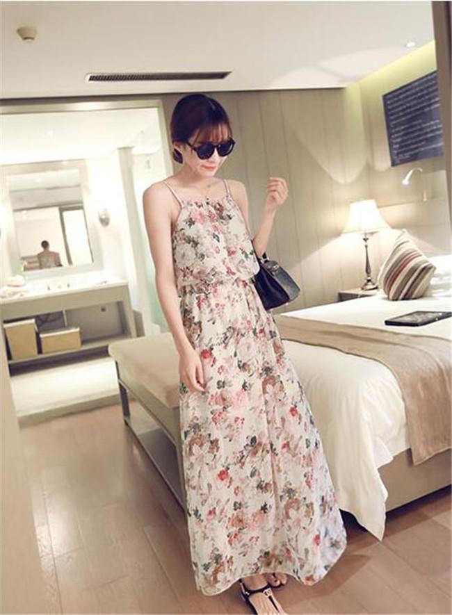 韓国ファション ワンピース 春夏 ドレス 海辺サンドレス 絶対高品質 ジョーゼット 花柄 春夏 レディース 細身 着痩せ サンドレス ゆったり 可愛い