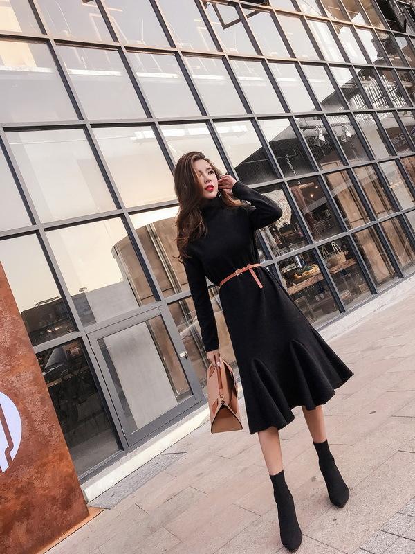 [55555SHOP] ★韓国ファッション★女性ファッション★のクオリティーgood!体ラインワンピース★デートファッション★推薦デーリー・ウェア