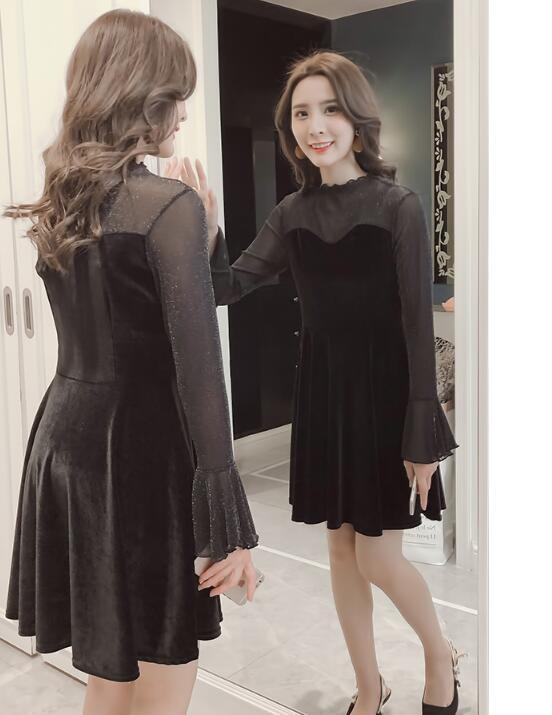 韓国ファッション レース パーティードレス 結婚式 ドレス お呼ばれドレス フォーマル ワンピース