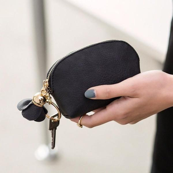 女性の革小ミニ財布ホルダージップコインパースクラッチハンドバッグパーフェクトプレゼント