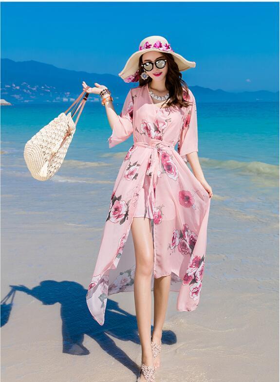 レディース ワンピース セット 砂浜 オフショルダー ストライプ マキシ OL 上品 ドレス