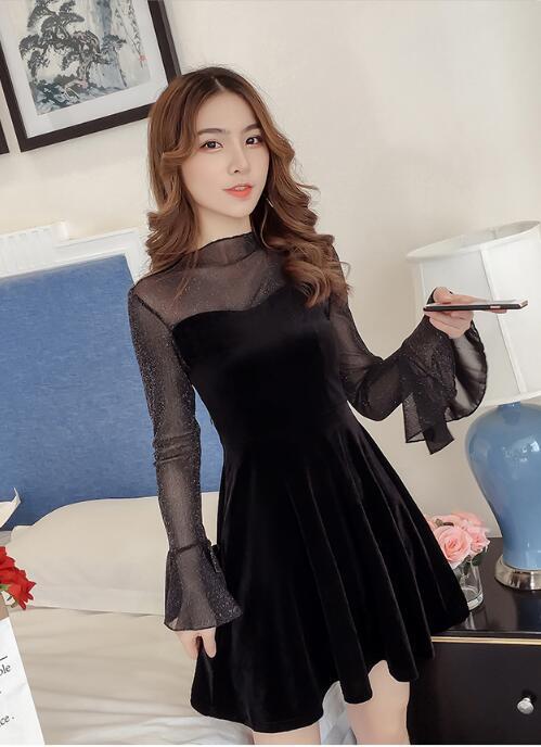 韓国ファッション♥長袖セレブなOL気質の職業の服装,レーススカート,レディースファッション♥♥