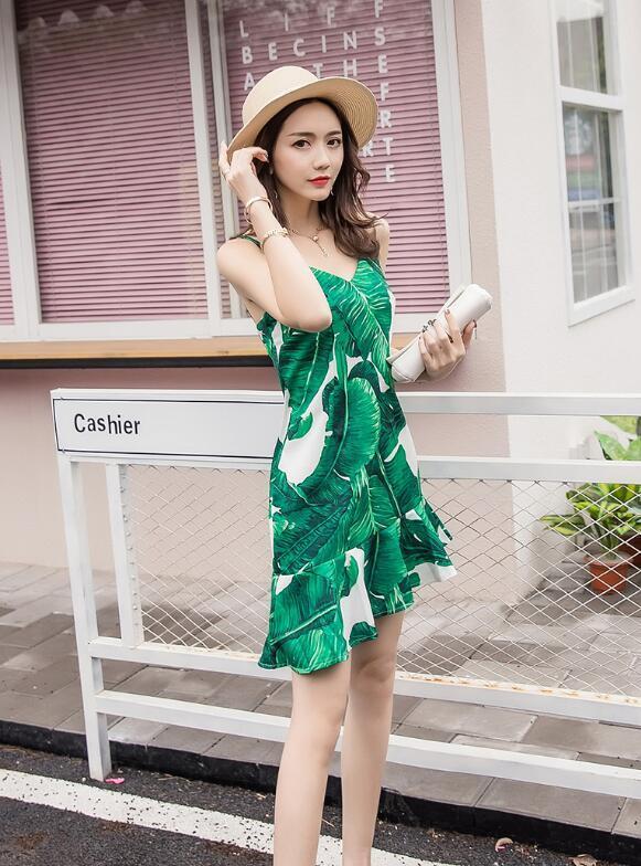 新品韓国ファッション春の夏ワンピースワンピース半袖のワンピースストリートのワンピース七分のミニワンピースワンピース