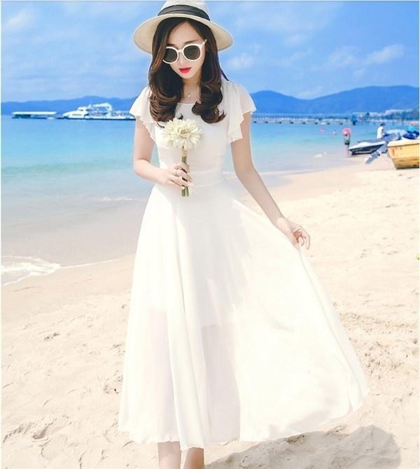 レディースワンピース ビーチワンピース 砂浜 無地 ファッション ハイセンス 着心地いい おしゃれ 夏 スリム レディースワンピース