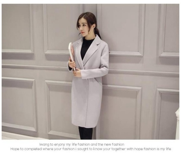 2017ウールコート高品質ウィンタージャケット女性スリムウールロングカシミアコートカーディガンエレガ