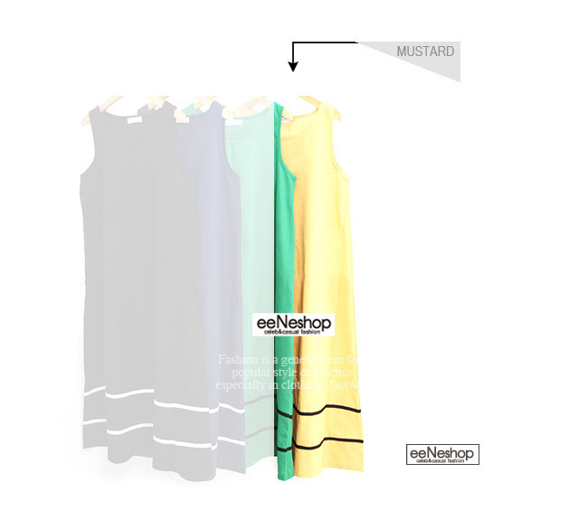 ★送料無料★ノースリーブ パイピング Aラインワンピース[レディース] 韓国ファッション ワンピース バッグ リュック パーカー コート アウター カーディガン ハロウィン セットアップ トレーナー
