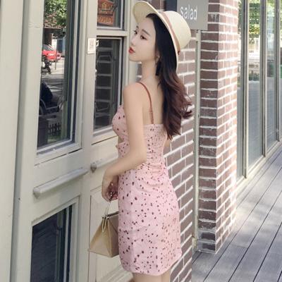 夏 新しいデザイン 女性服 プリント ゴム入りのウエスト セクシー 学生 ベルベット ス