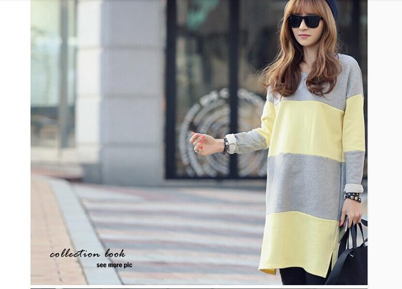 S/S新作!❤春に着るのが楽しみ❤韓国ファッション通販業界1位♥信じられない驚きの大特価♥ ハイクオリティ! ゆったりフィットロングTシャツ・カットソー  コットンT シャツとスタイリッシュなストライ