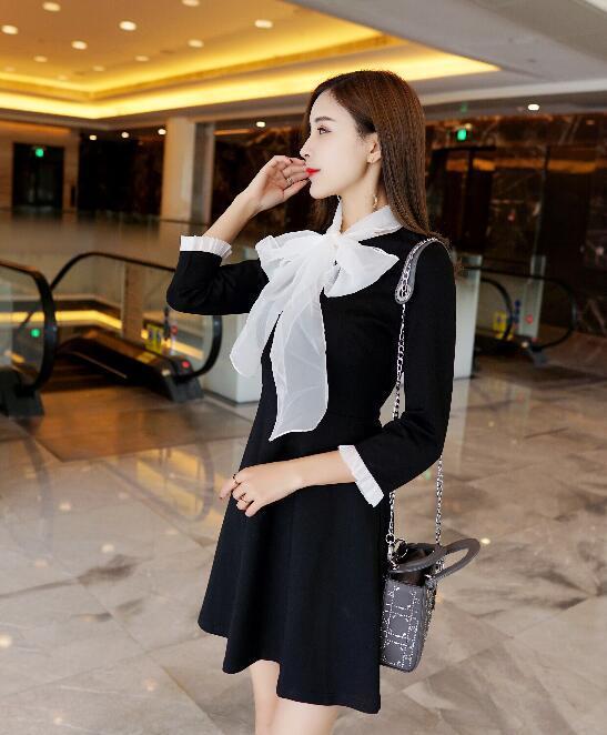 韓国ファッション ワンピース レース 結婚式 パーティードレス フィット シースルー ミニドレス レディース 長袖