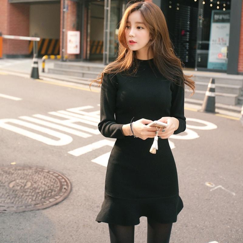 無料配送[CHERRYVILLE]★韓国ファッション★女性ファッション★のクオリティーgood!体ラインワンピース★デートファッション★推薦デーリー・ウェア
