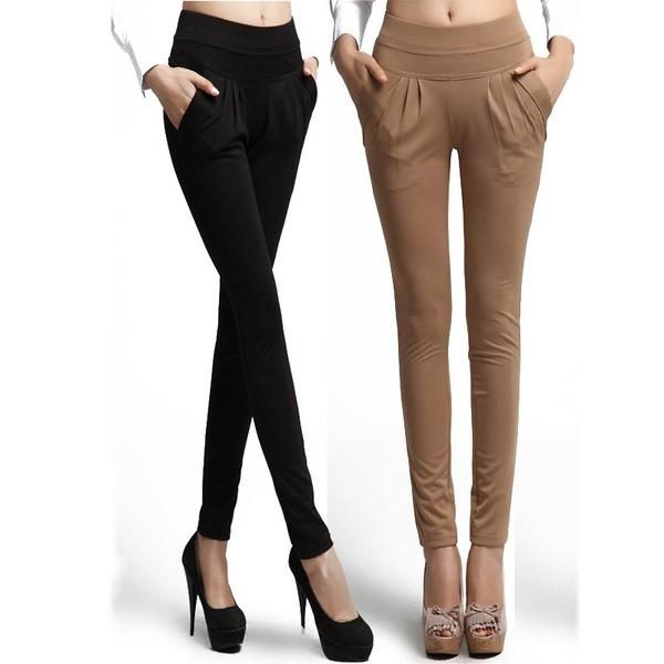 女性のファッション韓国スタイルのカジュアルストレッチスキニーレギンスペンシルパンツスリムパンツ女性のハーレン