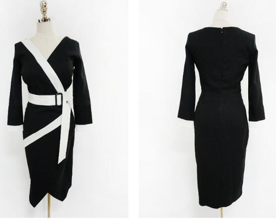 ★韓国ファッション★ ラップデザインレーヨンワンピース