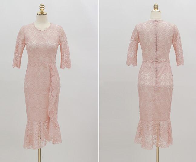 レディース ワンピース 新作 上品 レース パーティー ファッション OL ドレス