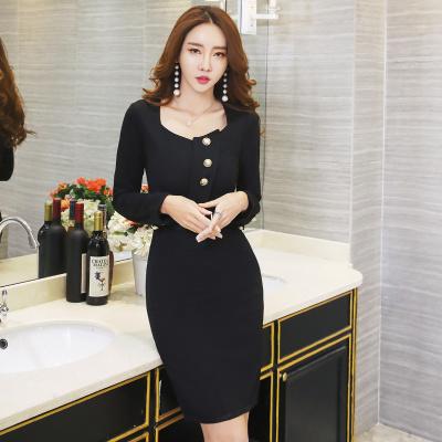 秋冬 新品 ファッション 韓国風 スレンダーライン ワンピース パーティー レディーズ女性 長袖