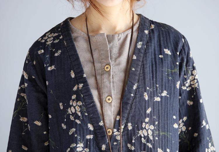 森ガール系ワンピース/長袖/花柄/ラウンドネック/韓国風レディースファッション/肌触り抜群/清新気質/可愛い