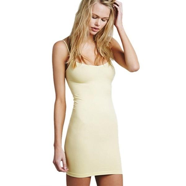 ファッションサマースパゲッティストラップロングタンクトップレイヤーミニラップドレスキャミソール女性