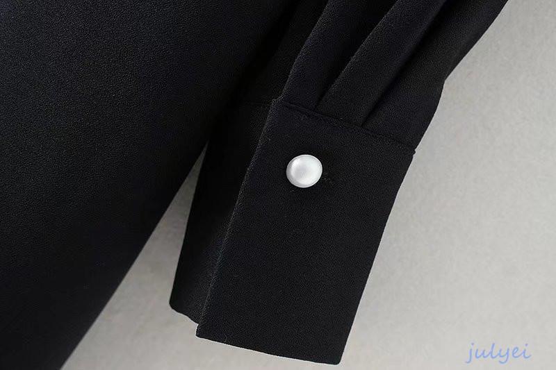 欧米風 レディース ラウンドネック 半袖 ミニワンピース 肩の真珠の装飾 おしゃれ 無地 品を演出 シンプル 大人 上品