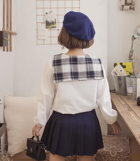 2017新作♪ガール♪レディース♪トップス♪シャツ♪長袖♪全2色
