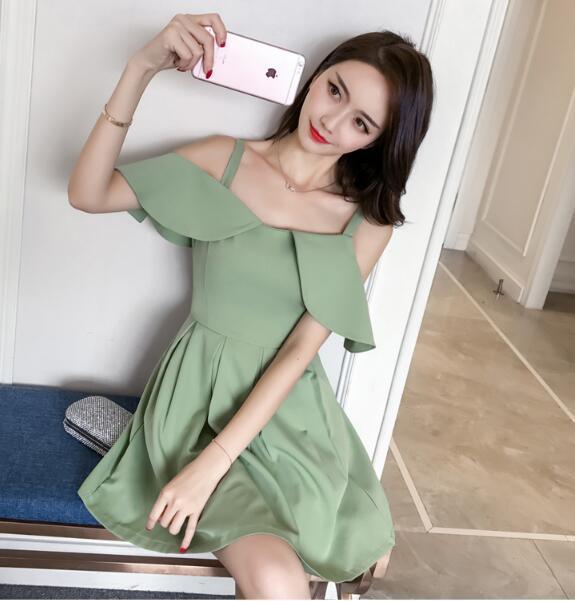 ★韓国ファッション 2018春新作 ★ ワンピース★ パーティードレス ワンピース  パーティー ドレス ワンピ ミニドレス ショート ドレス