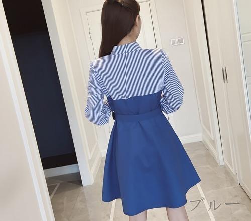 ファッションロマンチックワンピ☆ブルー/イエロー2色