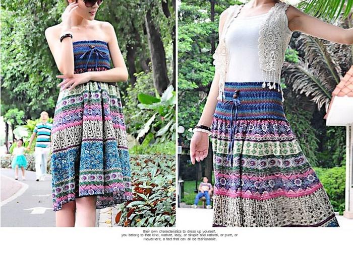 2WAY スカート ♪暑い夏にぴったりな涼しい着心地♪ 華やかな花柄でヴィンテージ気分と、キュートなシルエットで、女性らしさを演出するマキシワンピース♪ デード、お出かけ、旅行、どんな場合でもビッタリです♪ロングスカート 花柄 マキシ丈 ファッション レディース ボトムス スカート