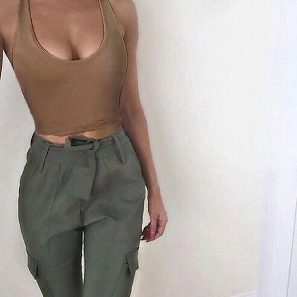 SommerセクシーファッションレディースタンクトップBustier Bra Vest CropトップBradette Blouse