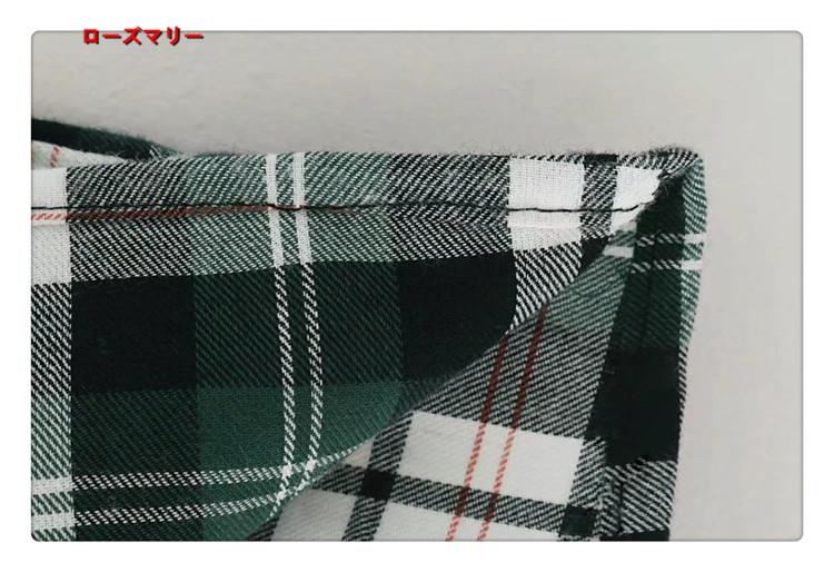 【ローズマリー】2017秋冬新型クルーネック チェック褶曲ワンピース チェック柄 長袖ワンピース ヴィンテージ調  ベーシック-QQ4347