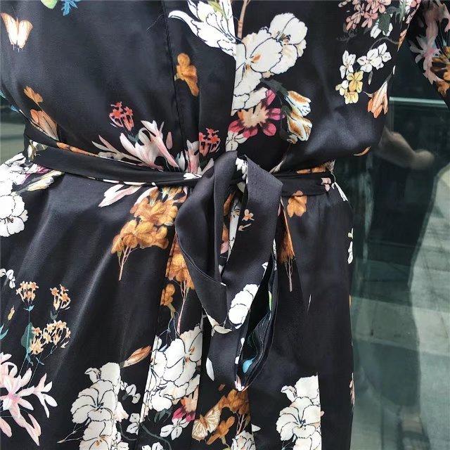 レディース ワンピース ロング UVカット 接触冷感 カーディガ 花柄 超人気 ドレス